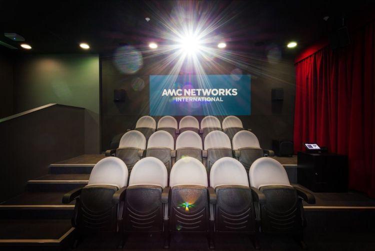 Cinema chairs and AMC Network logo