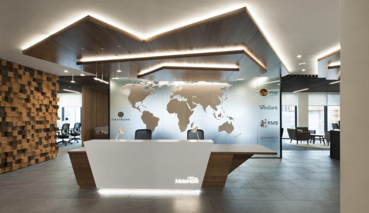 MotoNovo office reception in Cardiff