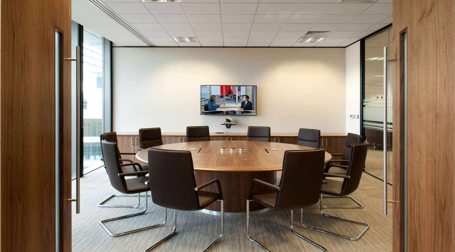 Boardroom in office fit out for Amey