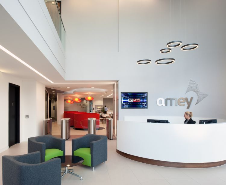 Office reception for Amey