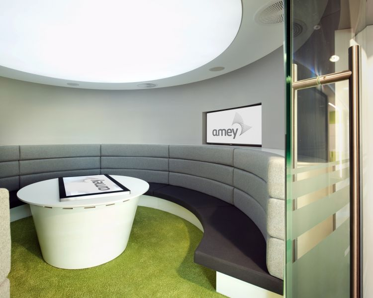 Circular meeting area for Amey