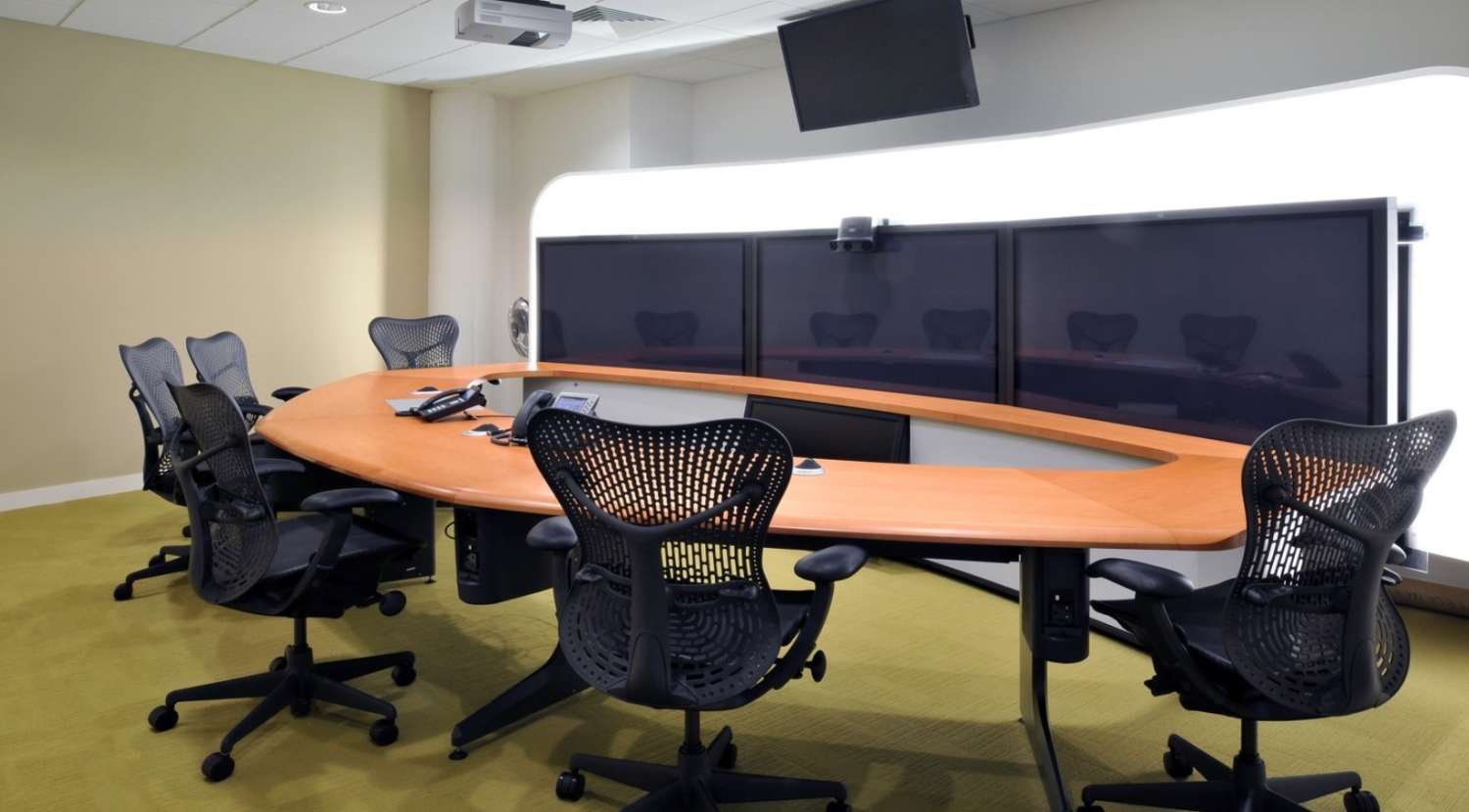 Video conferencing facilities - office design by Morgan Lovell