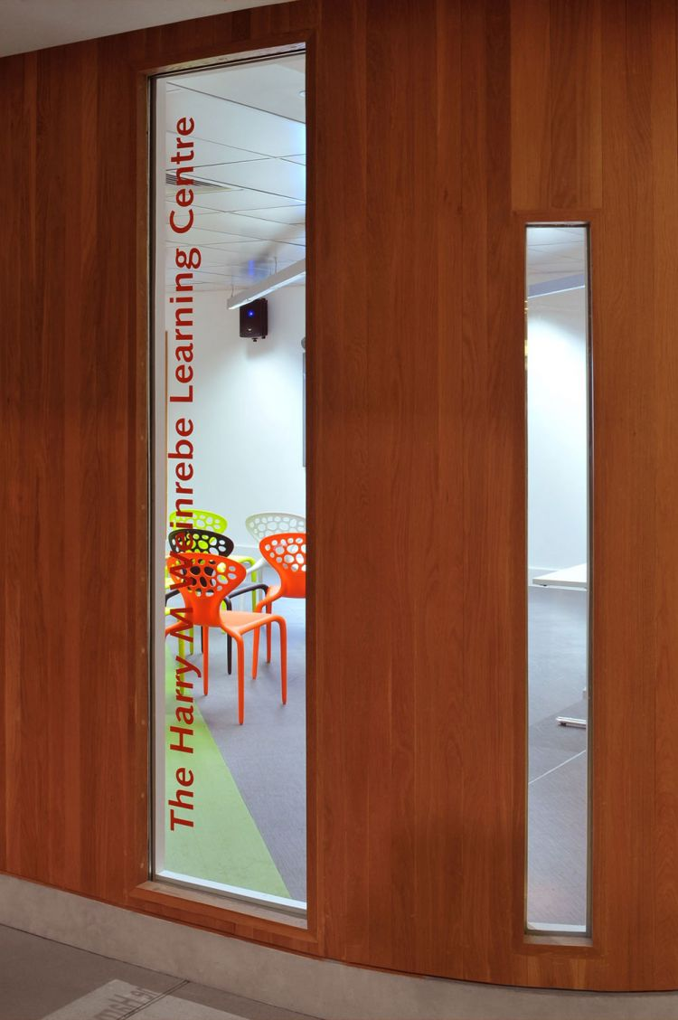 Door to the British Library learning centre / Office Design by Morgan Lovell
