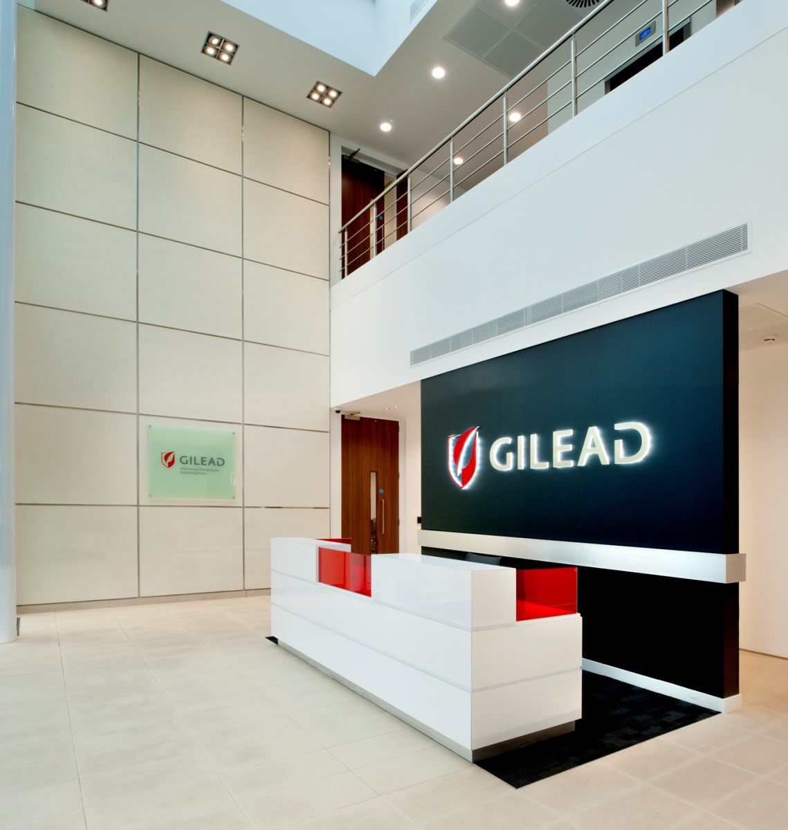 Gilead sciences cambridge office design and fit out for Office design case study
