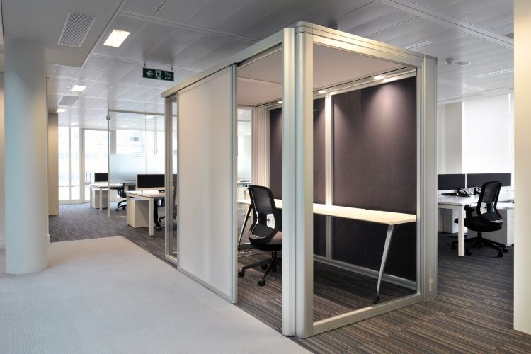 Private call and concentration booth in open plan office