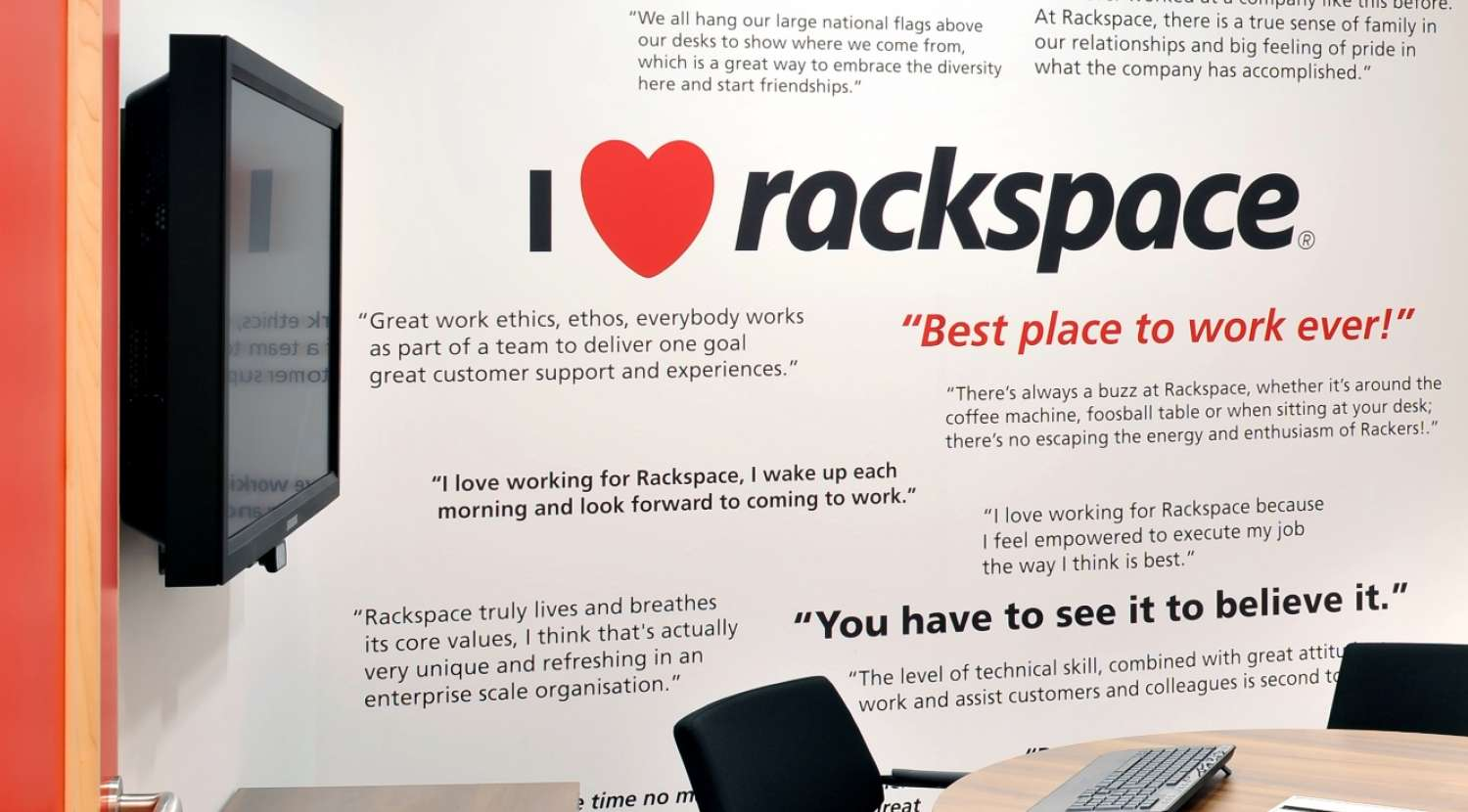 I love rackspace meeting room wall / Design and fit out by Morgan Lovell