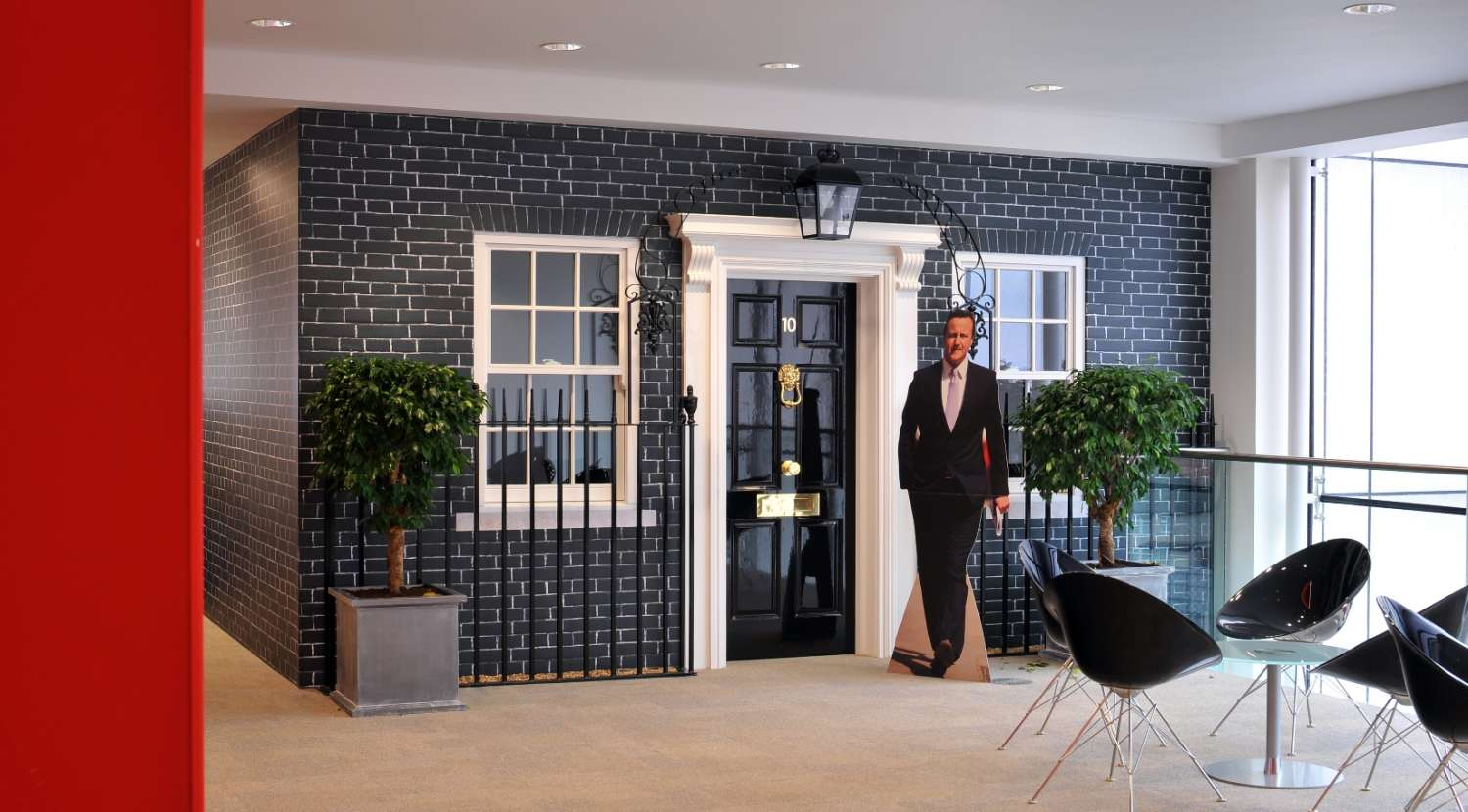 The facade of No.10 Downing Street adds patriotism to this office design