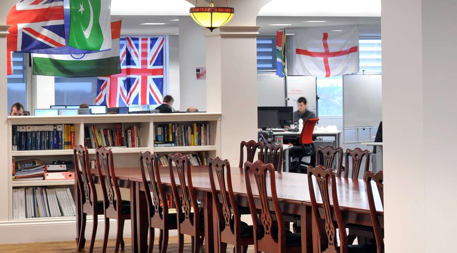 Staff dining and collaboration area / Design and fit out by Morgan Lovell
