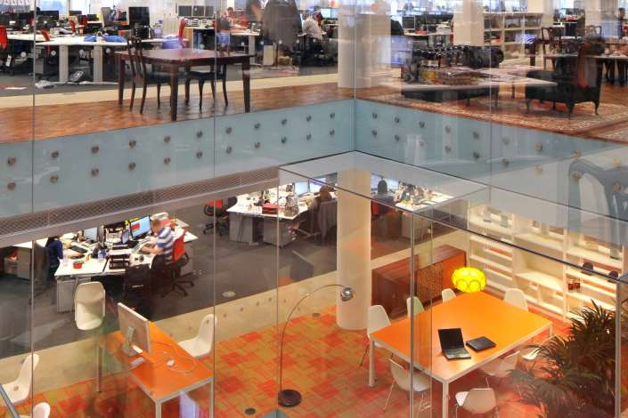 The four colourful floors of Rackspace's UK office