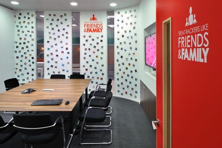 Meeting room at Rackspace / Design and fit out by Morgan Lovell