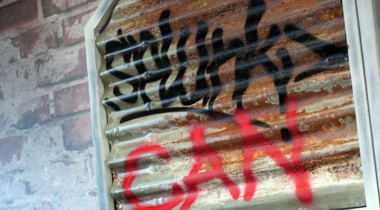 Splunk can: urban graffiti in the office design for Splunk in Paddington, London