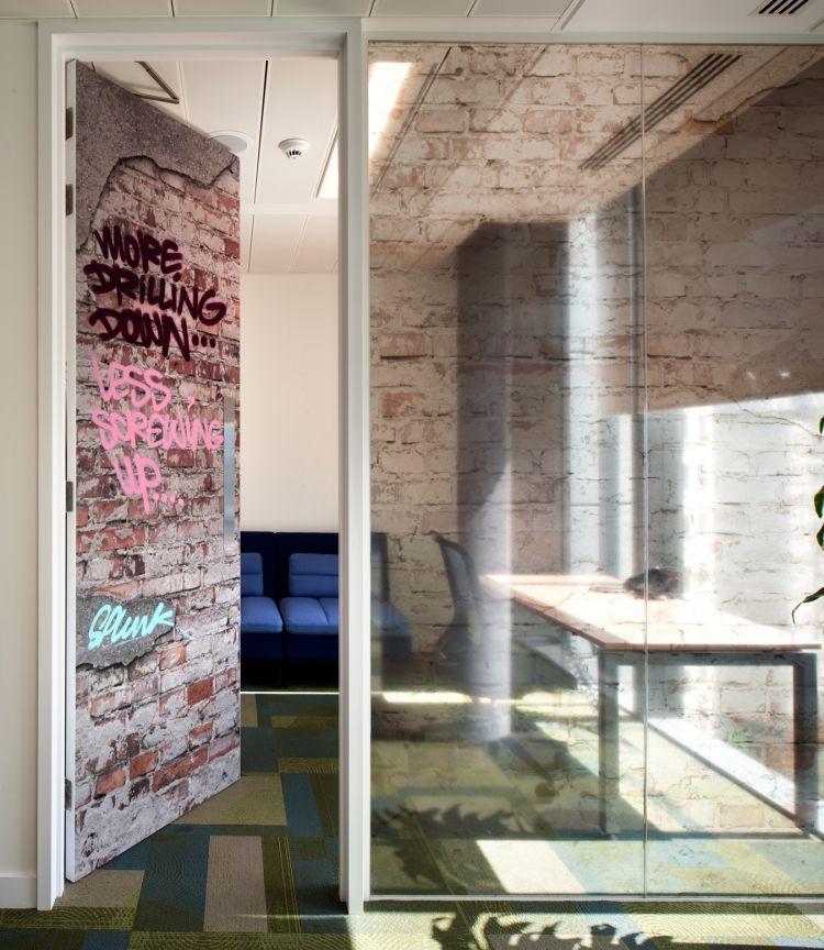 Urban quiet meeting room in the office design for Splunk