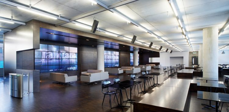 Empty cafeteria in modern office fit out