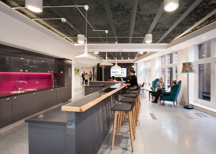 Innovative office design for thoughtworks morgan lovell for Office interior design uk
