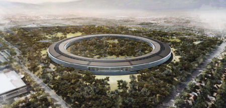 Apple Park overhead render